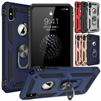 For Apple iPhone 6 6s 7 8 Plus XS Max XR X Case Kickstand Shockproof Ring Cover