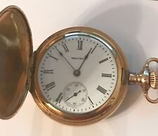 JUST SERVICED 1908 WALTHAM HUNTER 0 SIZE MODEL 1907 GRADE 161 7 JEWEL