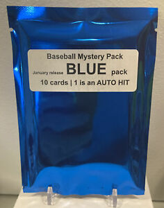 10 cards | 1 Autograph  🔥Mystery Baseball Hot PACK - BLUE Edition