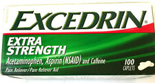 Excedrin Extra Strength Acetaminophen, Aspirin (NSAID)  100 Caplets EXP. 05/18