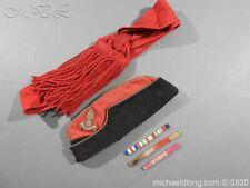 Royal Artillery Officer's Side Cap Sash and Medal Boards