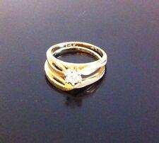 Lds Brilliant Diamond Stacking Wedding Set - 14 Carat Gold - Engagement & Band