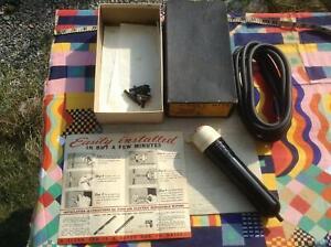 NOS MIB vtg 'Vacumite' 30s bakelite vacuum cleaner that works off wiper vacuum