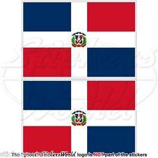 Dominikanische Republik NATIONALFLAGGE, Staat-Kriegsflagge 100 mm aufkleber x2