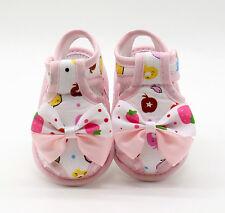 Recién Nacido Bebé Sandalias de verano Moño Suave Zapatos Cuna antideslizante