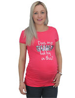 Pregnancy Maternity T Shirt Top Sequin DOES MY BUMP LOOK BIG IN THIS? Size 10-18