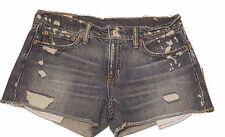 "POLO Ralph Lauren ""AUTHENTIC DUNGAREES"" Denim Stonewash Cut-Off Shorts Size 28"