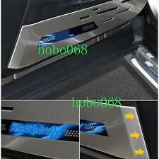 4X Stainless Inner Door Kick Protection Cover with LOGO  For Toyota RAV4 2016-17