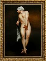 """Hand painted Original Oil painting art Portrait male nude on canvas 24""""x36"""""""