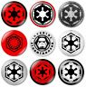 9 x Star Wars Empire 32mm BUTTON PIN BADGES Symbol Logo Imperial First Order