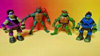 Vintage 2002 2013 Teenage Mutant Ninja Turtles Raph Don Leo Mike Figure Lot TMNT