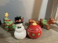 Lot of 3 sets of Christmas Salt and Pepper Shakers