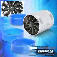"2.5"" Air Intake Turbo Turbine Turbonator Eco Fuel/Gas Saver Fan Speed Kit Chrome"