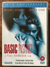 Michael Douglas Sharon Stone BASIC INSTINCT 1992 Classic Erotic Thriller UK DVD