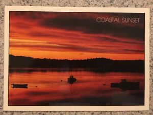 POSTCARD UNUSED MAINE,  A BEAUTIFUL COASTAL SUNSET IN MAINE