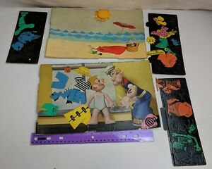 Vintage Colorforms Popeye Replacement Pieces Incomplete 2 Boards + Clings
