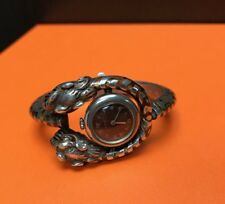 Very Rare Vintage Gucci Sterling Silver Enamel Dragon Watch