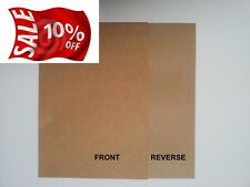 50 A4 QUALITY 1/SIDED BROWN RECYCLED 280GSM KRAFT CARD-IDEAL FOR CRAFT/WEDDINGS