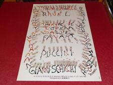 COLL LE BOURHIS BALLET DANSE / AFFICHE ARMAN / RAVEL Heure Espagnole 1985 Favart