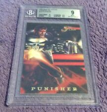 🌎 1994 Flair Marvel Annual Powerblast #10 Punisher BECKETT 9 MINT