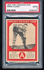 1933 V252 Canadian Gum KING CLANCY HOF PSA 2