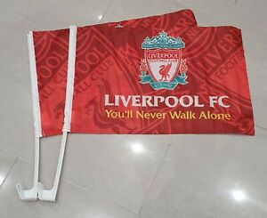 Liverpool FC Official Car Flags - You'll Never Walk Alone - Set of 2