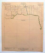 1920 Mykawa Texas Vintage Original USGS Topo Map Houston Skyscraper Shadows
