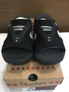 SKECHERS WOMEN'S REGGAE SUN FEST SANDAL 47101 (Sport Slide Sandal, Lightweight)