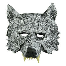 Grey Wolf Head Mask for Cosplay Halloween Masquerade