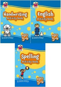 KS1 YEAR 1 ENGLISH HANDWRITING & SPELLING ACTIVITY 3 BOOK BUNDLE FOR AGES 5-6
