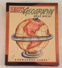 Scientific Geography Quiz Deck Knowledge Cards Educational Learning NIB