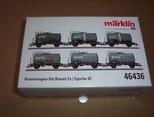 Märklin 46436 Kesselwagen-Set H0, 6 teilig, gealtert, NEUWARE