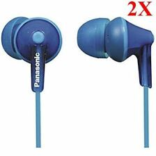 Panasonic RP-HJE125A In-Ear Earbud Ergo-Fit Headphone (2-Pack, Blue)