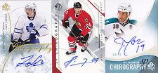 09-10 SP Authentic Luke Schenn /50 Auto Chirography Maple Leafs 2009