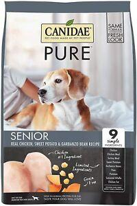 CANIDAE Pure Senior Recipe Premium Dry Dog Food Limited Ingredient 12lbs NEW NIP