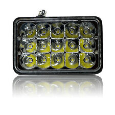 4X6 Inch Headlight 15 LED CREE HID Replace H4656/4651 High/Low Beam 45W 1pcs