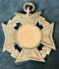 Antique solid silver and gold watch fob -
