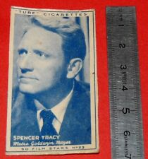 CINEMA 1947 TURF CIGARETTES CARD FILM STARS 23 SPENCER TRACY  HOLLYWOOD MGM