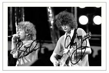 ROBERT PLANT & JIMMY PAGE SIGNED PHOTO PRINT AUTOGRAPH LED ZEPPELIN