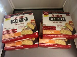 "20 SlimFast Keto Meal Bars ' SALTED CARAMEL MACADAMIA NUT ""  BBD DEC 2020"