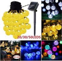 Christmas String Lights Outdoor Party Yard Garden Wedding Solar Powered LED Bulb