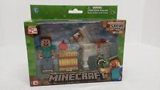 Minecraft Overworld Steve and Gray Horse Set, NIB