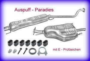 Abgasanlage Auspuff für Opel Astra G CC 1.6 & 1.6 16V Fließheck T98 F48_F08 +Kit