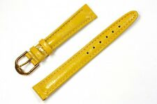 Jacques Lemans Spare Band Watch Leather Yellow 16 mm bridge width 21978g