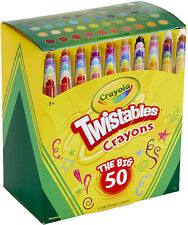 Crayola Twistables Crayons Coloring Set, Kids Stocking Stuffers, 50 Count