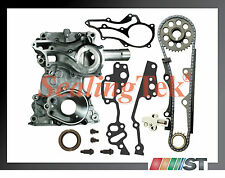 Fit 1985-95 Toyota 22R 22RE 22REC Timing Chain Kit STEEL GUIDE with Timing Cover