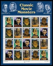 1997- CLASSIC MOVIE MONSTERS - #3168-72 Full MNH Sheet of 20 Postage Stamps