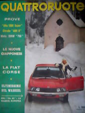 Quattroruote 181 1971 Prove Alfa 1300 Super, Citroen AMI 8. Moto: BMW 750 [Q75]