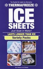 ThermaFreeze~6 Sheet 3 Sz Variety Pack~Reusable Flexible ICE Sheets~6x4,4x3,2x3
