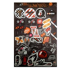 One Industries Decal Stickers Sheet For Car Motorcycles Bicycle Helmet #L002